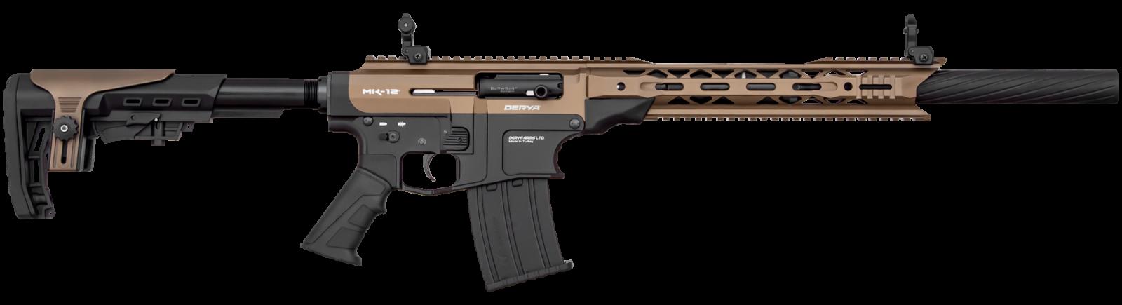 Fusil DERYA ARMS MK 12 calibre 12 TAN/BRONZE AS102S