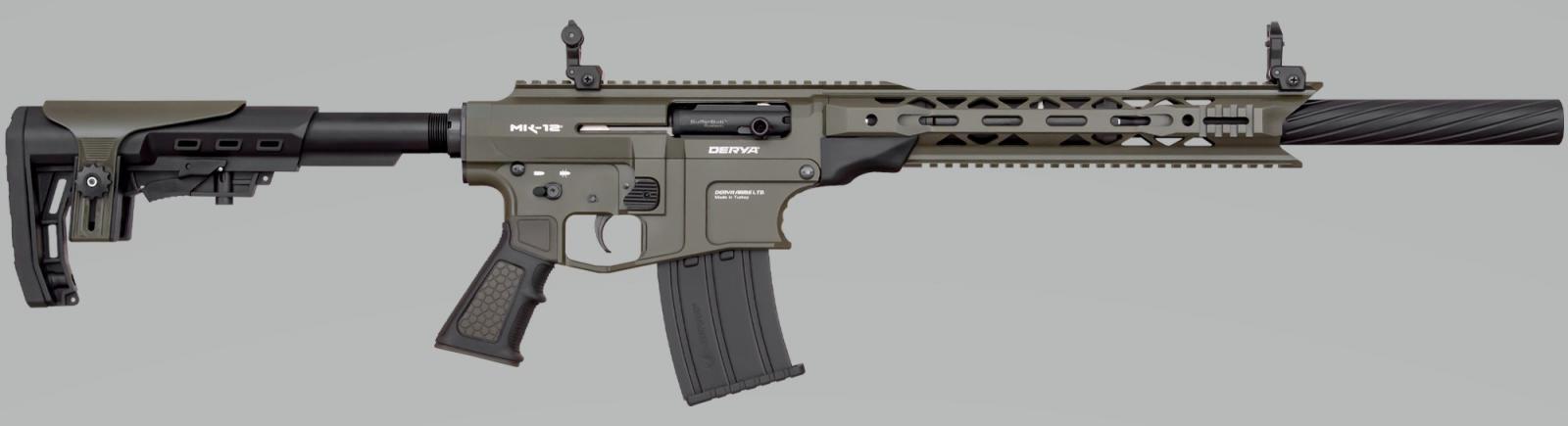 Fusil DERYA ARMS MK 12 calibre 12 NOIR / VERT AS103SF