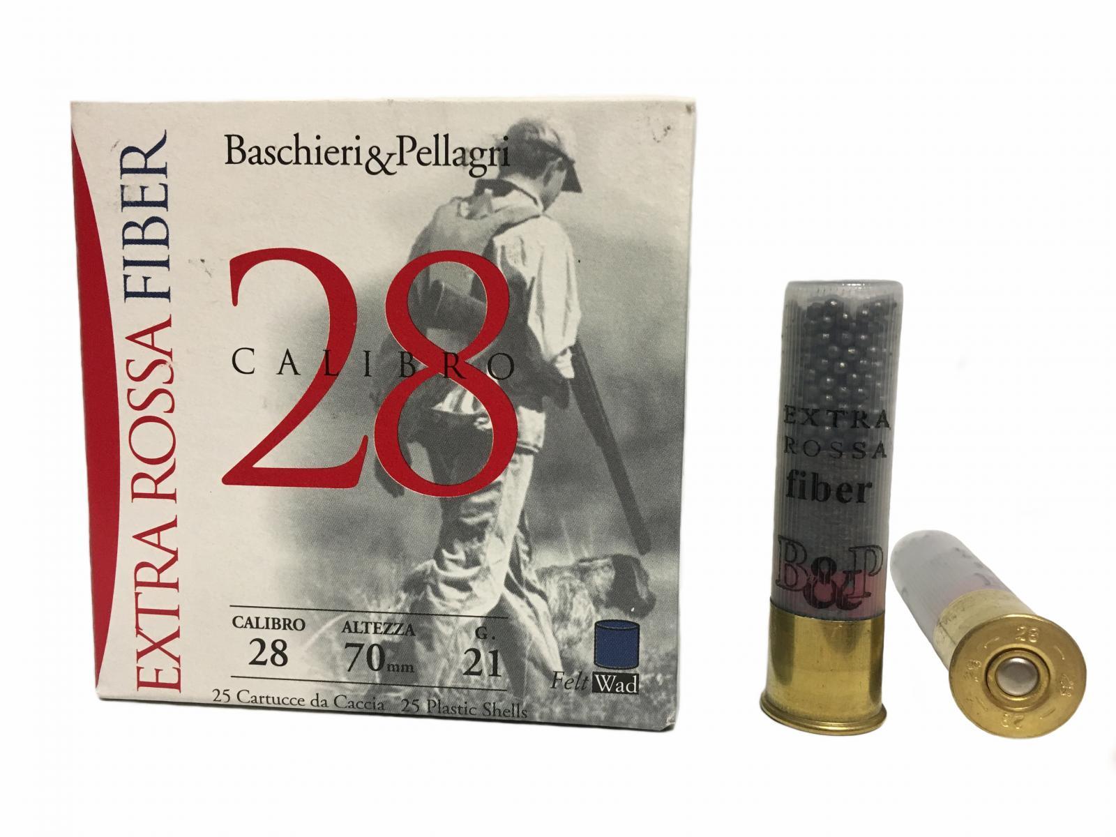 Boite 25 cartouches B&P calibre 28 bourre fibre