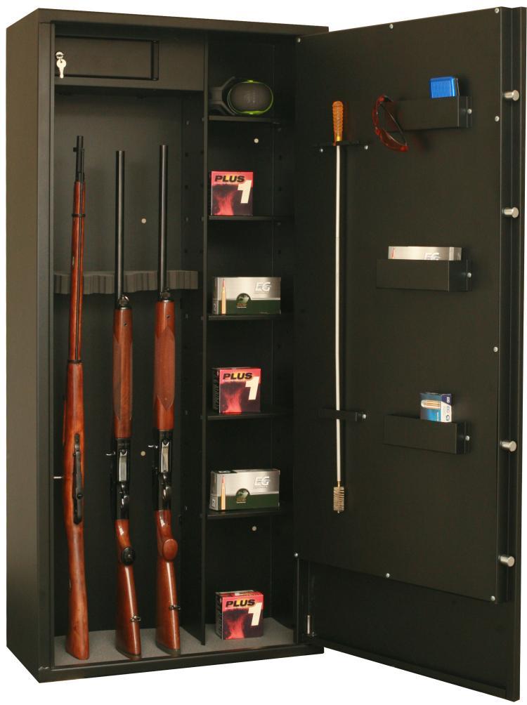 Armoire forte FORTIFY 12 armes avec lunette ou 8 armes avec lunette et 5 étagères DELTA12