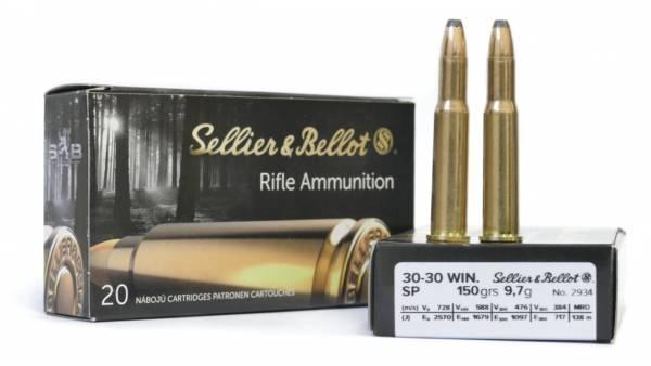 Boite de 20 cartouches SELLIER & BELLOT SP 150 grs calibre 30-30 Win