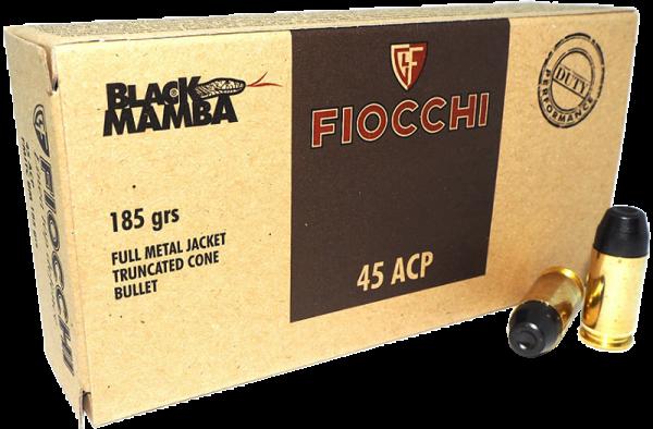 Boite de 50 cartouches 45 ACP FIOCCHI Black Mamba 185 grs
