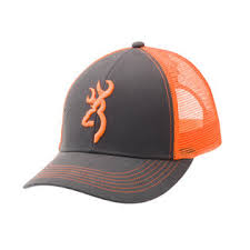 Casquette BROWNING Gris/orange Fluo