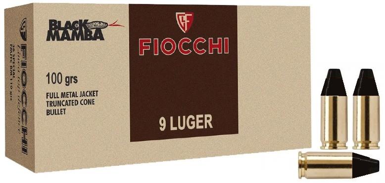 Boite de 50 cartouches FIOCCHI black mamba cal 9mm
