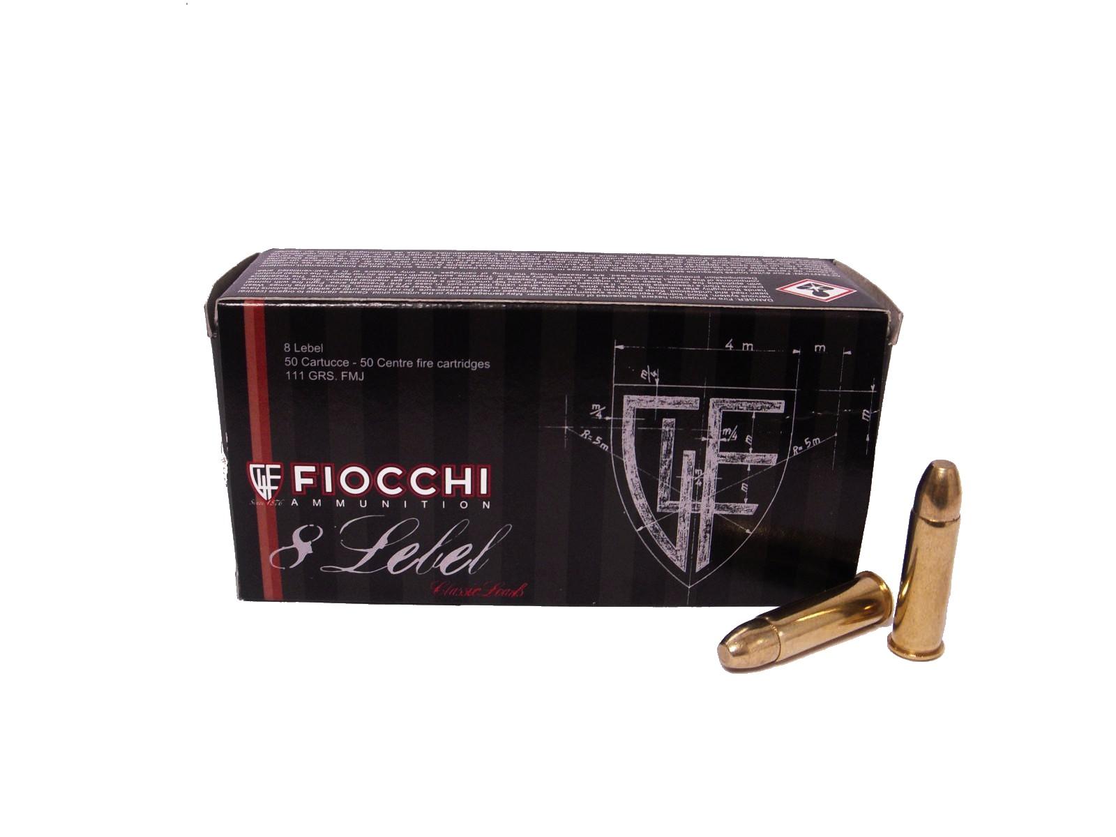 Boite de 50 cartouches 8mm92 FIOCCHI 111 grs FMJ