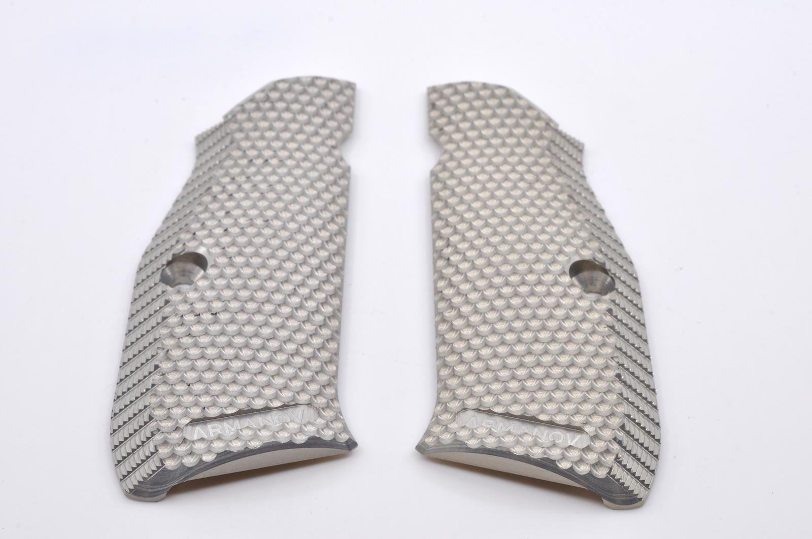 Plaquettes Aluminium ARMANOV Silver pour CZ Shadow ARMPGCZ3DSI