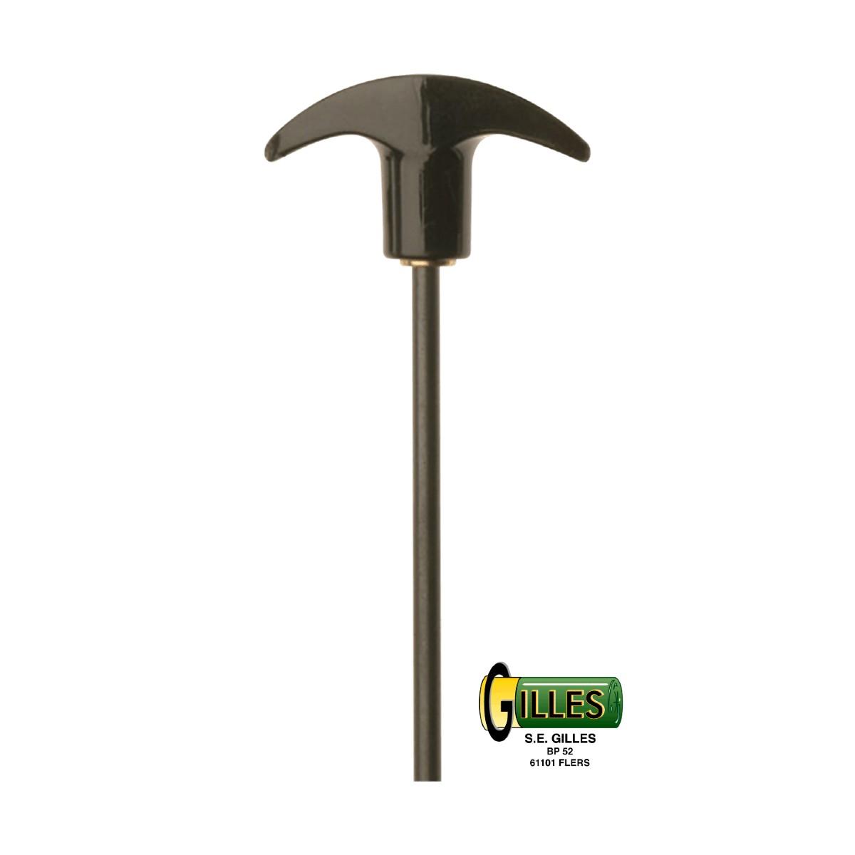 Baguette de nettoyage acier pour arme de poing Cal 22 à 45 KLEENBORE  OP106