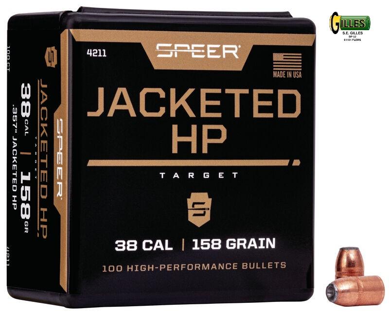 Ogives SPEER 38 (.357) 158 grs JHP SP4211
