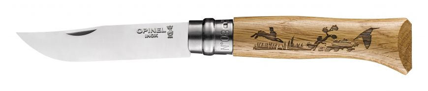 Couteau OPINEL N°8 Animalia Lièvre OPI002333
