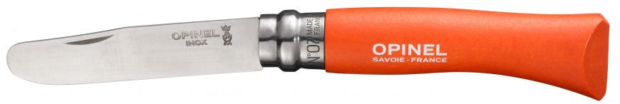 Couteau OPINEL N° 07 bout rond Mandarine