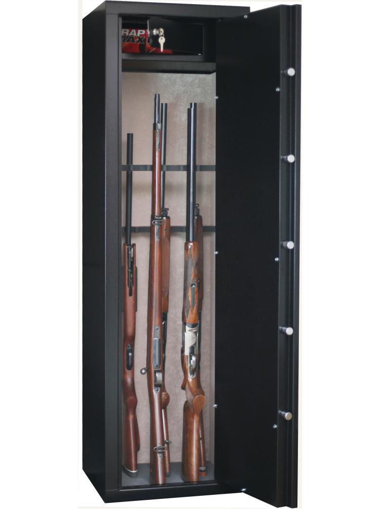 Armoire forte SENTINEL 8+8 armes avec lunette + coffre intérieur SD16