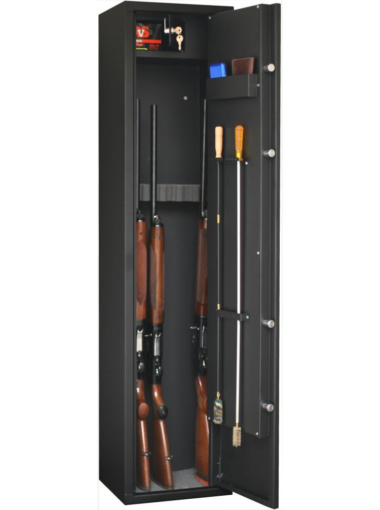 Armoire forte FORTIFY 6 armes avec lunette + coffre intérieur DELTA6