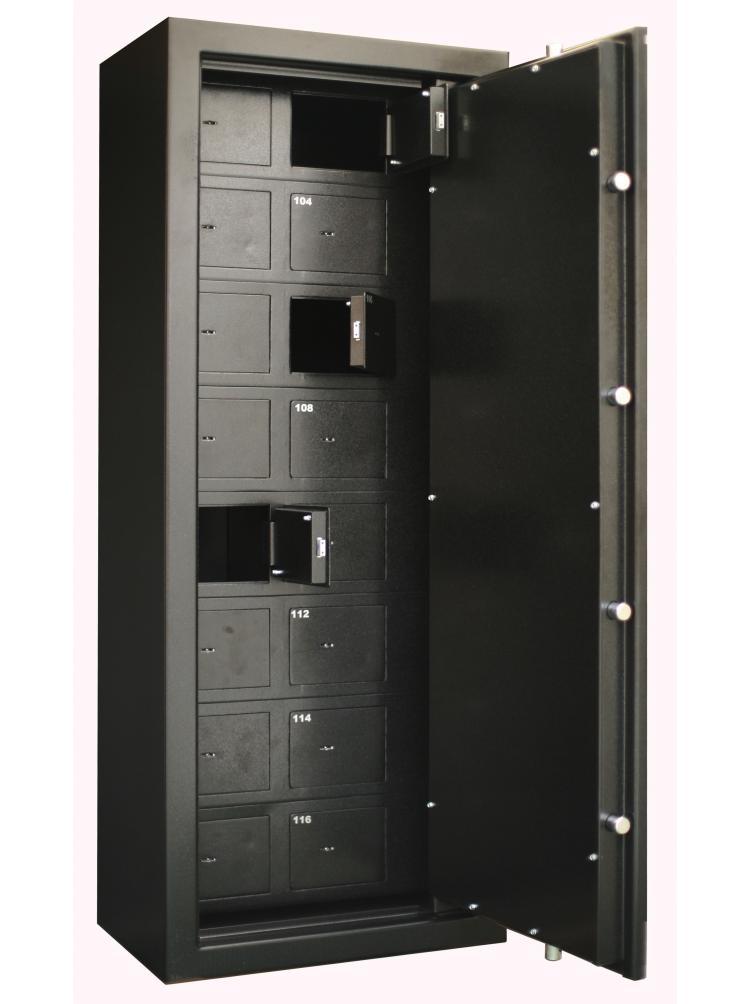 Armoire Forte Collectivité 16 compartiments (clefs différentes) + porte principale C20T16