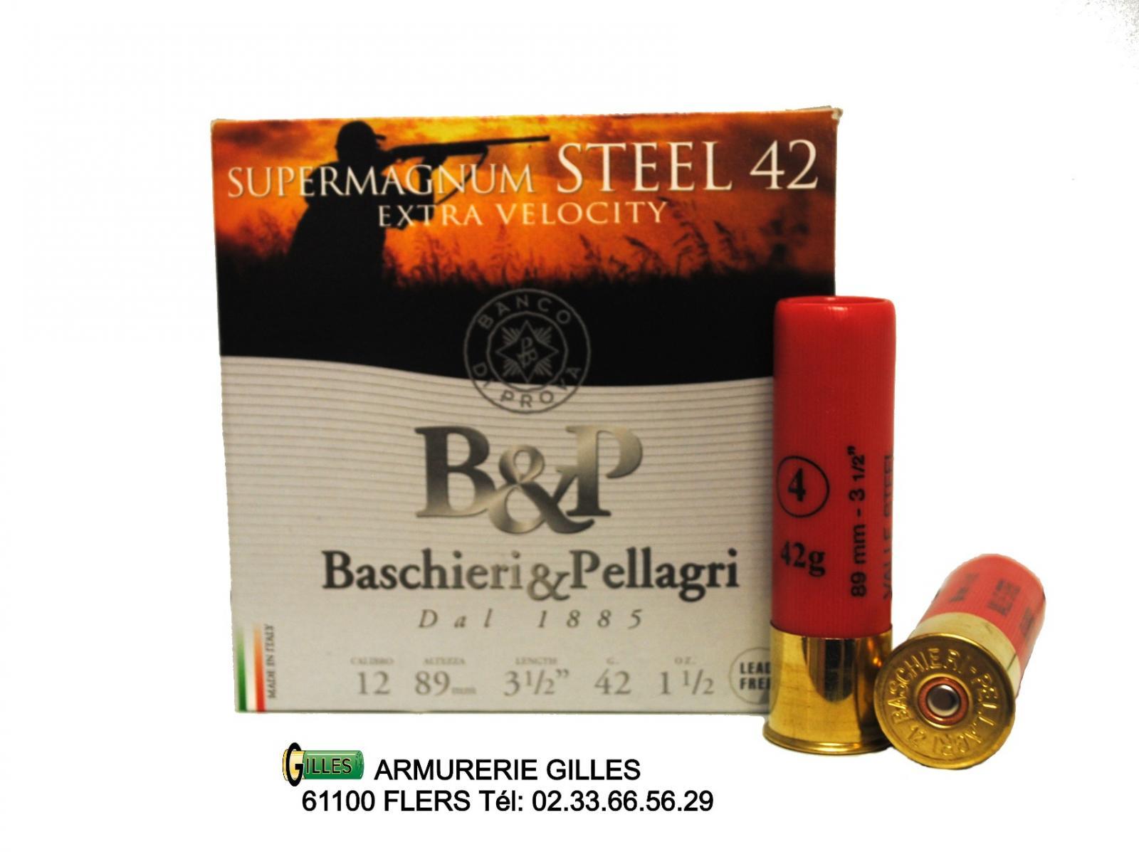 Boite 25 cartouches BASCHIERI&PELLAGRI SuperMagnum cal.12/89 BP1289