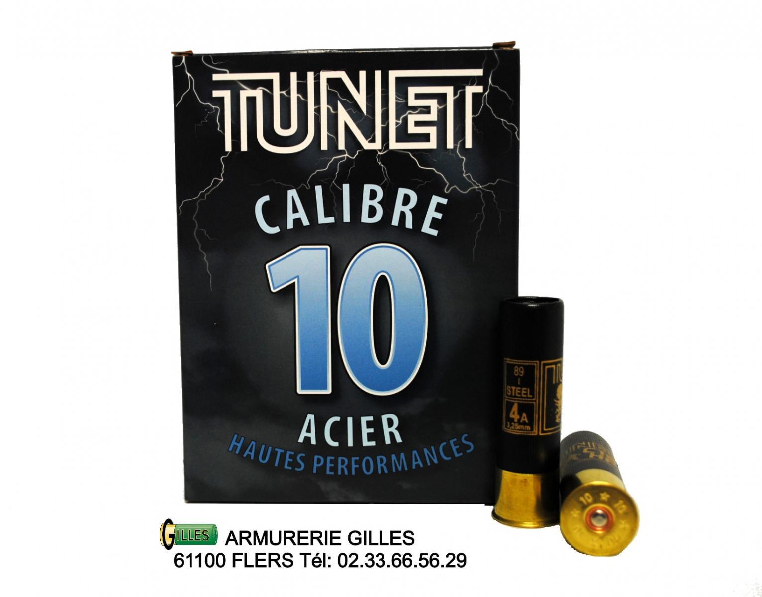 Boite de 10 cartouches TUNET cal10/89 48grs TU10A