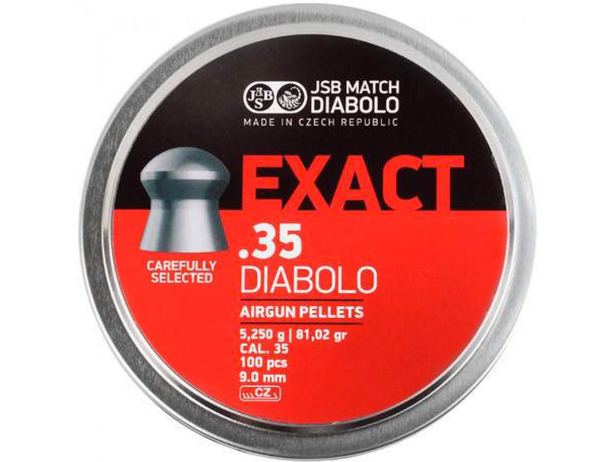 Boite de 100 plombs JSB Match Diabolo Exact .35 JSB35