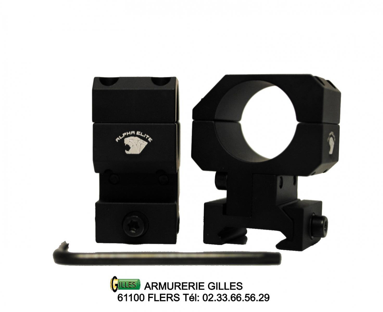 2 Colliers Ajustables en hauteur ø25.4 PREMIUM ARMS ALPHA ELITE PA00012