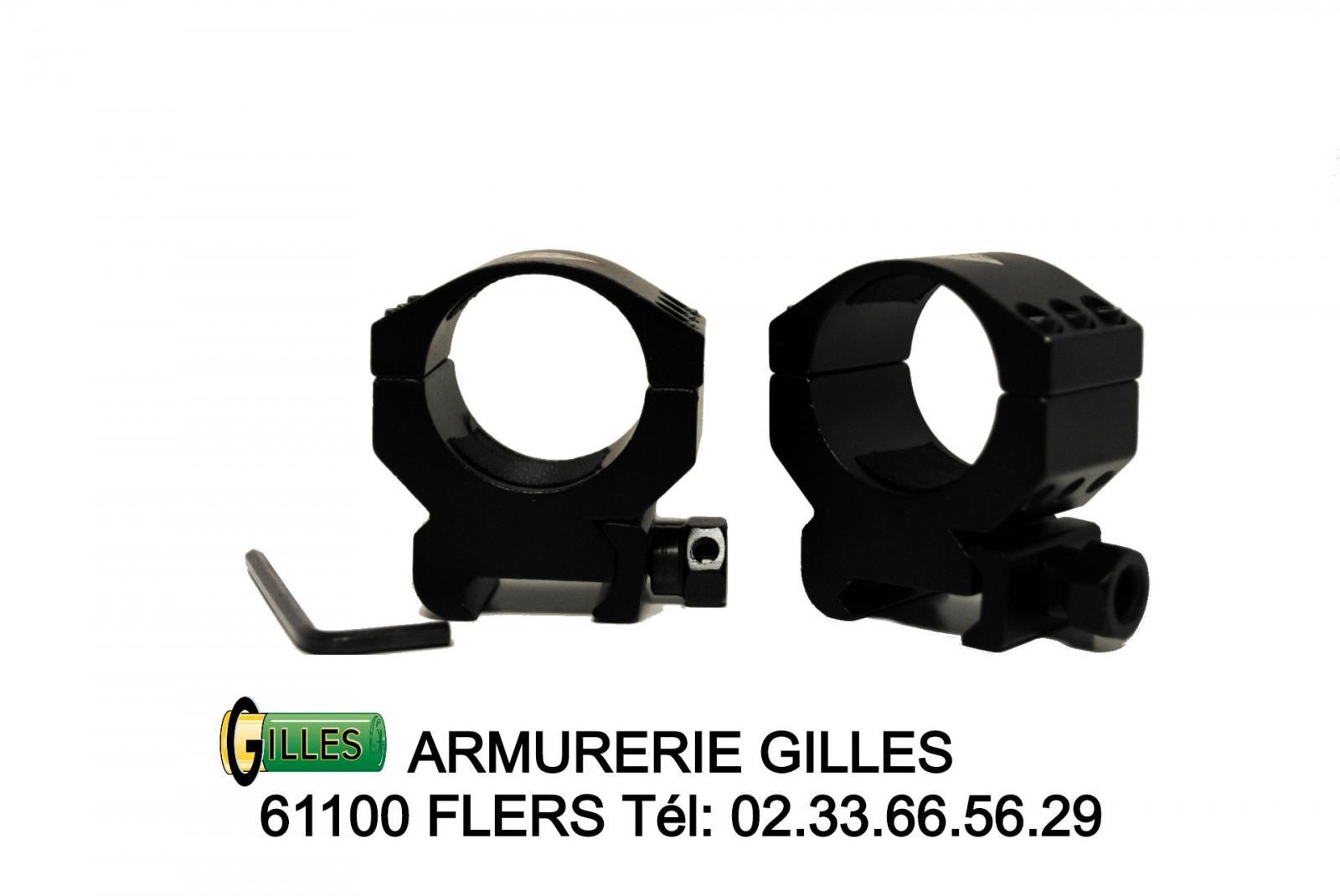 2 Colliers ø 30mm Haut PREMIUM ARMS ALPHA ELITE PA00015
