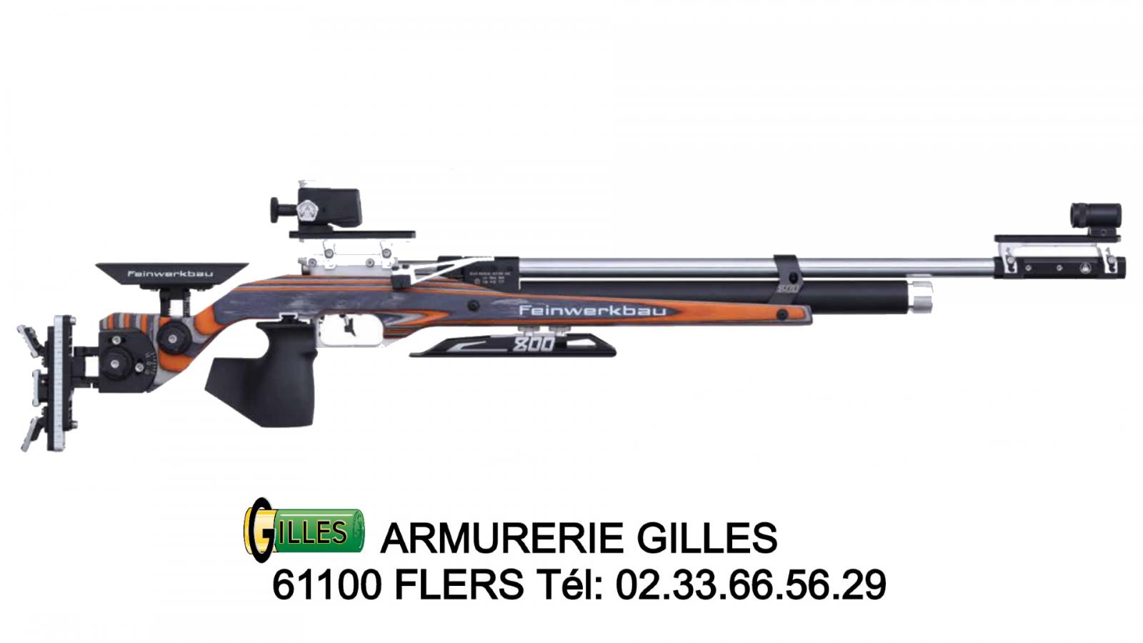 Carabine FEINWERKBAU 800 Orange à air Ambidextre
