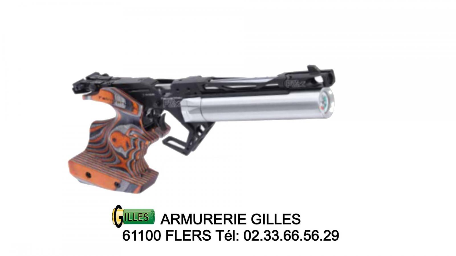 Pistolet FEINWERKBAU P8X Orange  Droitier taille M cal. 4.5