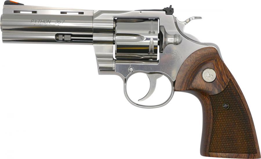 """Revolver COLT PYTHON inox calibre 357 magnum 4""""1/4"""