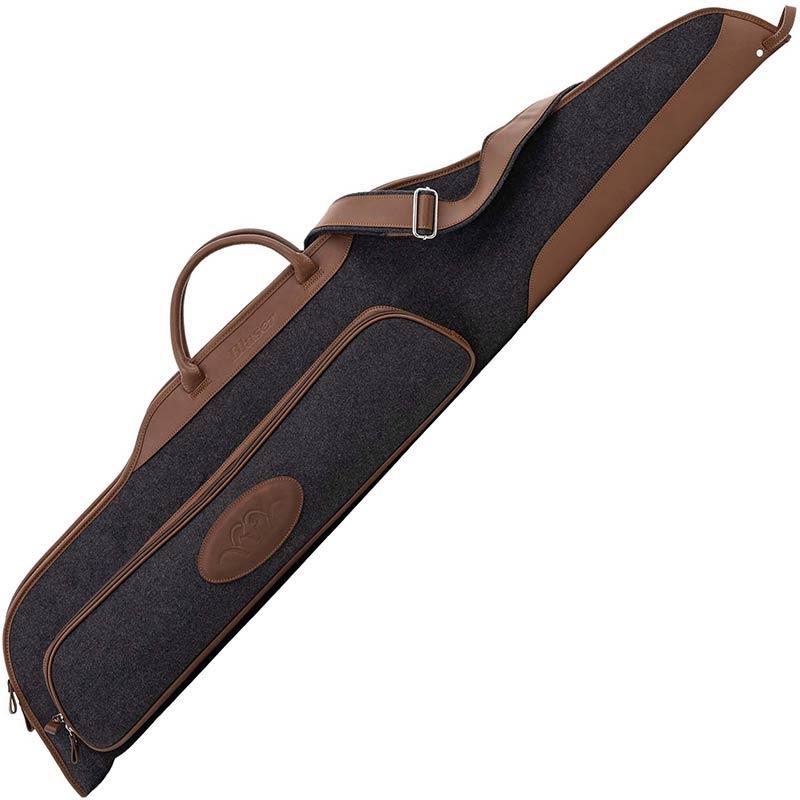 Housse pour carabine BLASER Loden/cuir 128cm RIVBL8040526