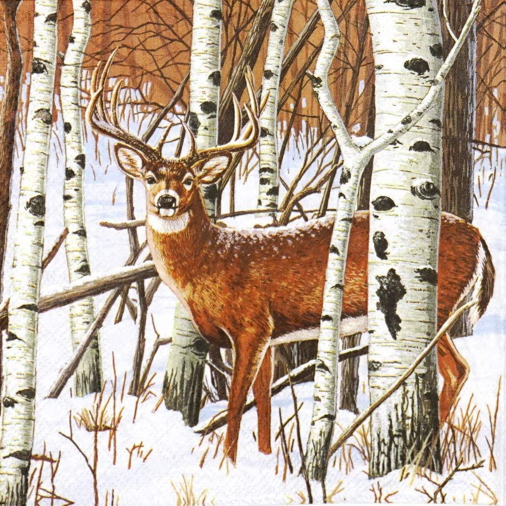 Serviettes en papier Cerf dans la forêt LOVCA01650