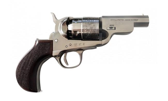 Revolver PIETTA 1851 Navy Yank Acier Sheriff Gravé PYASOS44