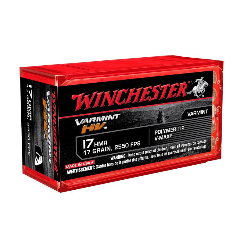 Boite de 50 cartouches WINCHESTER calibre 17HMR 17grs VMAX