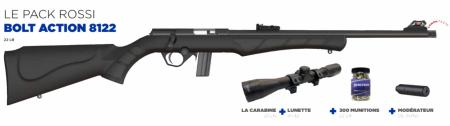 Pack Carabine ROSSI BOLT ACTION 8122 + Lunette 4x32 + Silencieux + Munitions
