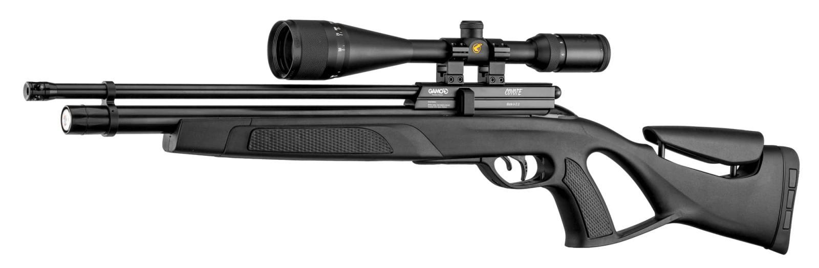 Pack Carabine GAMO COYOTE PCP calibre 5.5 + Lunette 6-24x50 + Pompe + Plombs