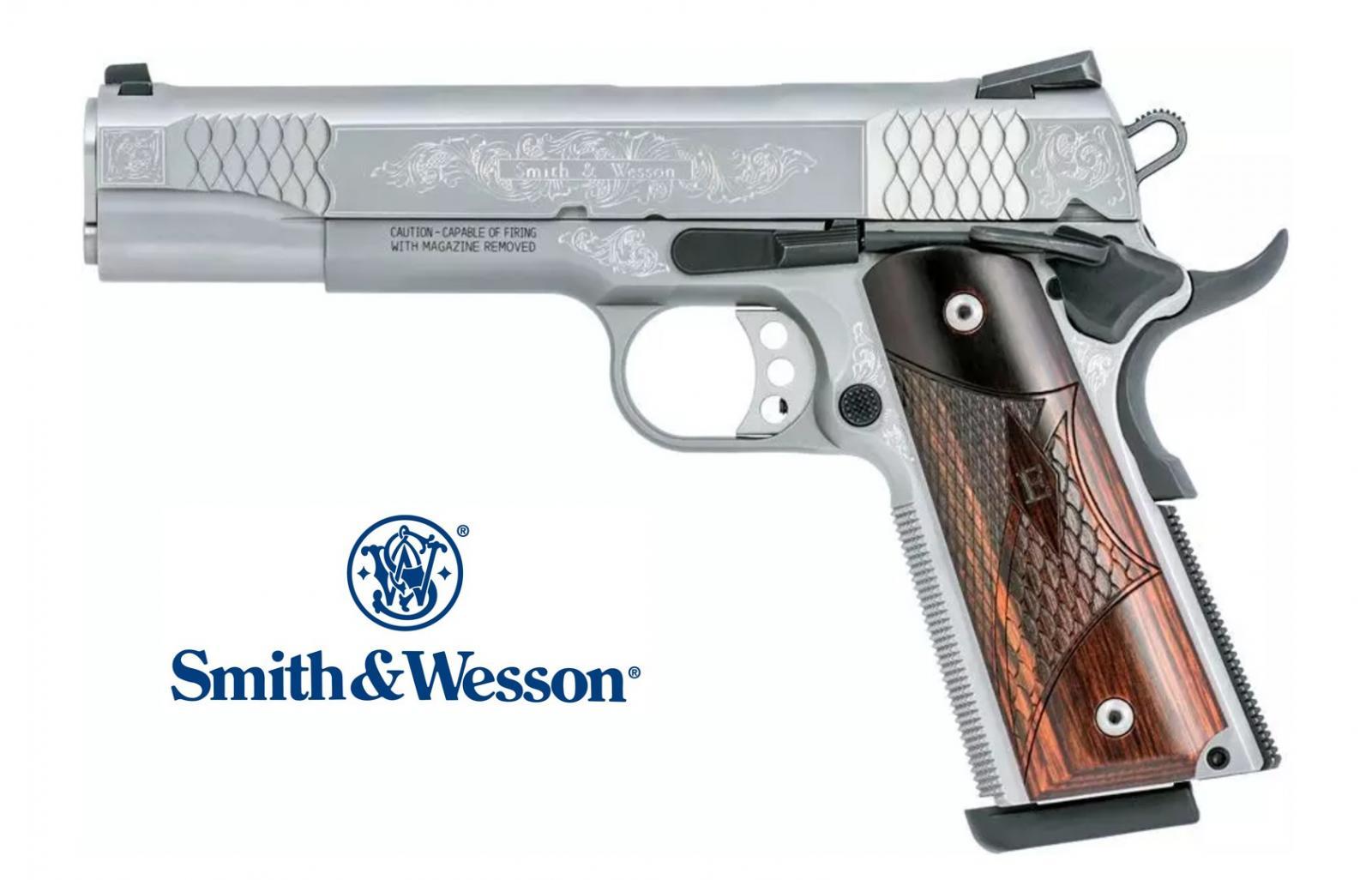Pistolet SMITH & WESSON 1911 E-SERIE GRAVÉ Cal 45ACP