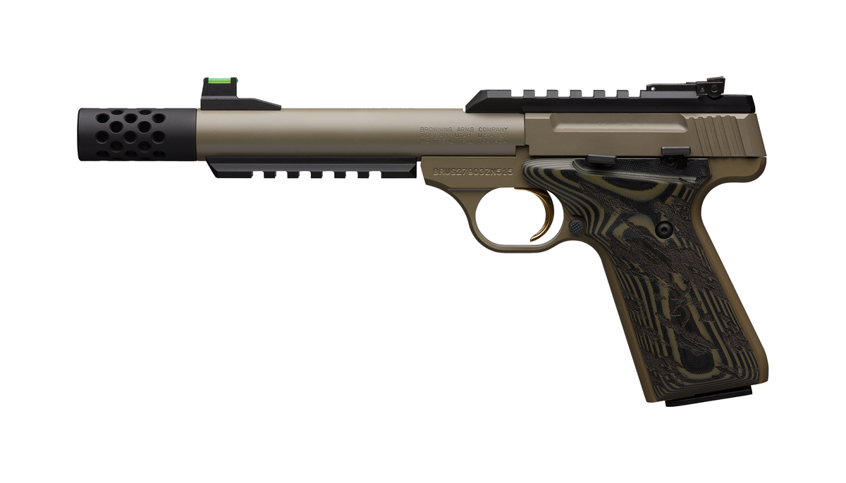 PSA BROWNING BUCK MARK PLUS CERAKOTE FDE Cal 22lr