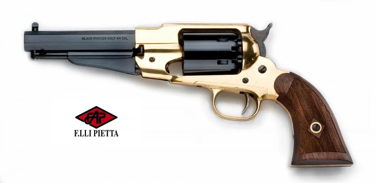 Revolver PIETTA 1858 REMINGTON TEXAS SHERIFF LAITON Cal .44