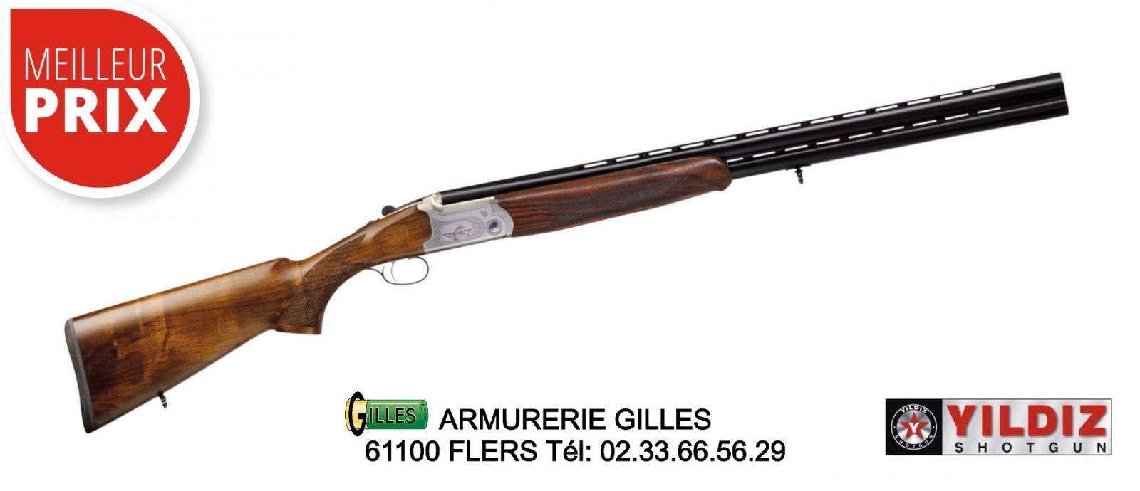 Fusil superposé YILDIZ canon de 71 cm Cal 12/76