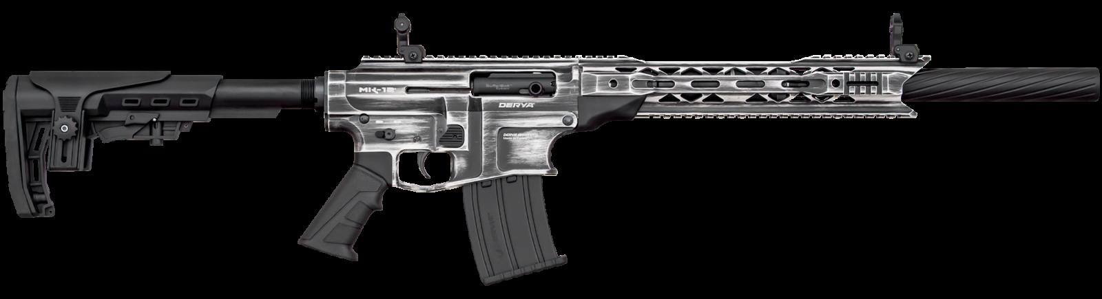 Fusil DERYA ARMS MK-12 calibre 12 NOIR / BLANC VINTAGE