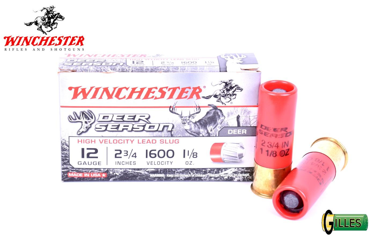 Boite de 5 cartouches calibre 12 WINCHESTER DEER SEASON X12DS