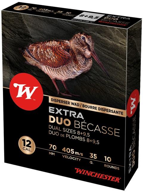 Boites de 10 cartouches WINCHESTER Extra Duo Becasse Cal. 12/70