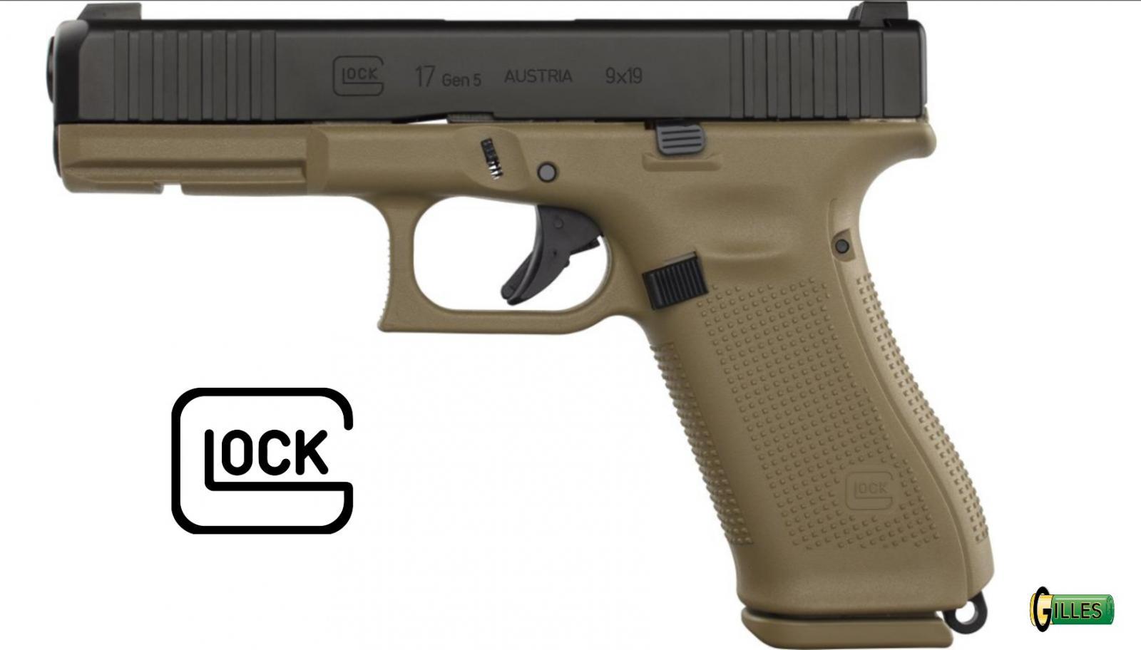 Pistolet GLOCK 17 GEN 5 FS COYOTE Cal. 9x19 mm