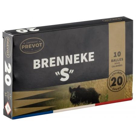 "Boite de 10 balles BRENNEKE ""S"" Magnum Cal. 20/76 BR3SM"